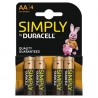 Pilas AA Duracell - Pack 4 uds.